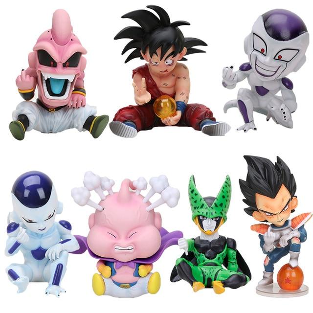11 cm Lutador do Anime Dragon Ball Z Majin Buu PVC Action Figure Toys Modelo Kid Buu Celular Freeza frieza Fina a partir de