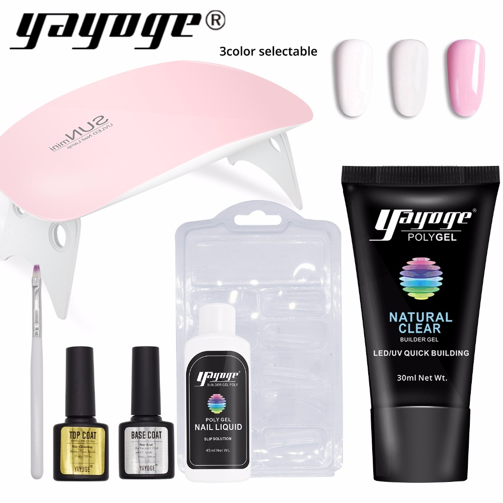 Yayoge Poly Gel Set LED UV Gel Lack Nagellack Kunst Kit Schnell Gebäude Für Nägel Extensions Fest Jelly Gel polygel Klar