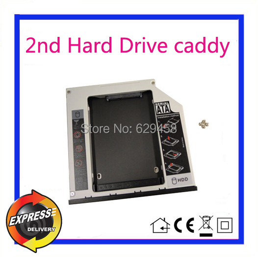 2nd SATA HDD Hard Disk Drive caddy Adapter for Dell Latitude E5430 E5510 E5530 Free Shipping free ship whole sale server hard disk drive 81y9690 81y9691 1t 7 2k sas 2 5 hdd for x3650m3