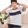 330112/Men summer pure cotton Pajamas/Comfortable/  soft/Loose/ elasticity/ Quality fabrics/ Breathable/ short-sleeved shorts