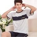 330112/Men summer pure cotton Pajamas/Comfortable/  soft/Loose/ elasticity/ Quality fabrics/ Breathable/ short-sleeved shorts