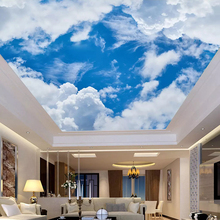 Custom 3D Photo Blue Sky and White Clouds Decoration
