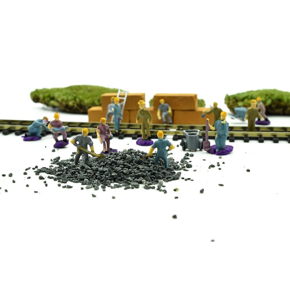 100pcs miniature scale model worker 1:87 scale model railway worker