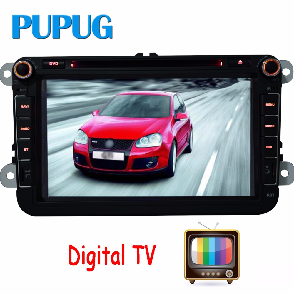 ᐊDigital TV Quad Core Android4.4 Car DVD GPS FOR VW GOLF 5 6 POLO ...