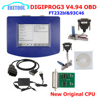 Digiprog 3 V4.94 FTDI FT232RL 93C46 주행 프로그래머 Digiprog III OBD 케이블 ST01 ST04 다국어 Digiprog3 OBD