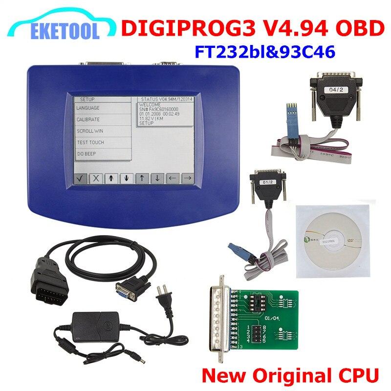 FTDI FT232RL 93C46 Digiprog 3 V4.94 Пробег программист Digiprog III OBD кабель с ST01 ST04 Многоязычная Digiprog3 OBD