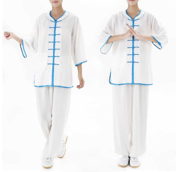 5 colores verano hombres y mujeres Tai chi manga corta trajes de artes marciales conjuntos de ropa kung fu uniformes ropa azul /Blanco/rosa