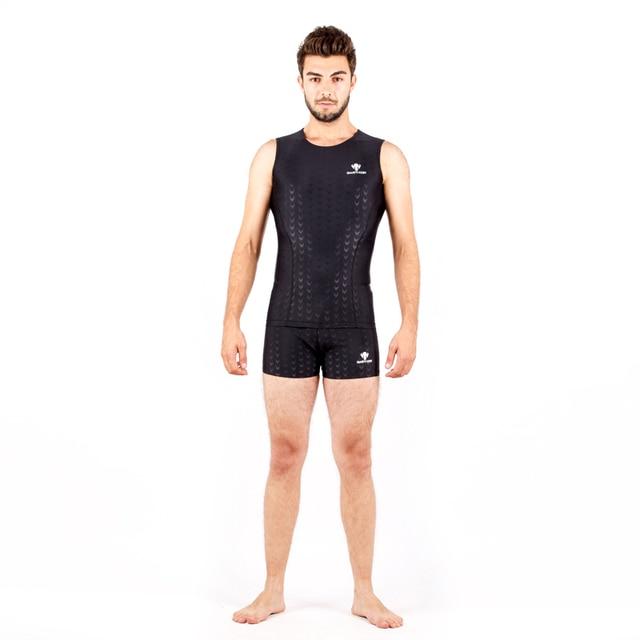 dd8724380f Shark Skin Two piece pool Swimwear Plus Size Men Adult Boy Child 2018 Arena  Surf Swim Snorkel Bathing Suit Bodysuit Swimsuit