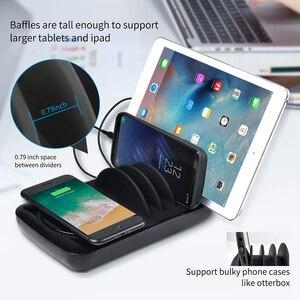 Image 5 - SooPii escritorio 4 puertos cargador estación soporte Universal con carga USB para el teléfono estación para iPhone Samsung iPad Tablet