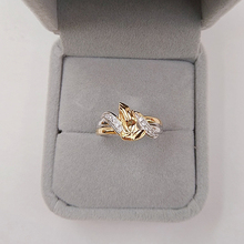 1pc Exquisite prayer hand zircon rings Double Gold Filled Praying Hands cut white zircon Ring pray charm gifts for Women