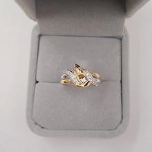 1pc ประณีตสวดมนต์ zircon แหวนคู่ทองสวดมนต์สีขาว zircon แหวน pray charm ของขวัญผู้หญิง
