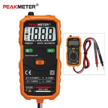 Portable DC/AC Mini Digital Multimeter Pocket Size Smart Intelligent Measurement Voltage Resistance Tester