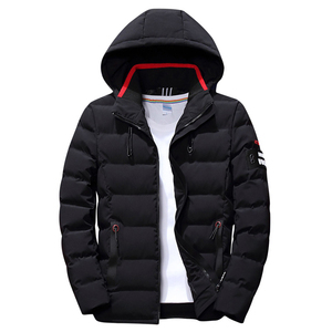 Image 2 - 2020 drop shipping New Fashion Men Winter Jacket Coat Hooded Warm Mens Winter Coat Casual Slim Fit Student Male Overcoat ABZ82