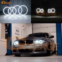 For BMW 1 Series E81 E82 E87 E88 2004 2012 XENON HEADLIGHT Excellent led Angel Eyes Ultra bright 3528 SMD led Angel Eyes kit DRL