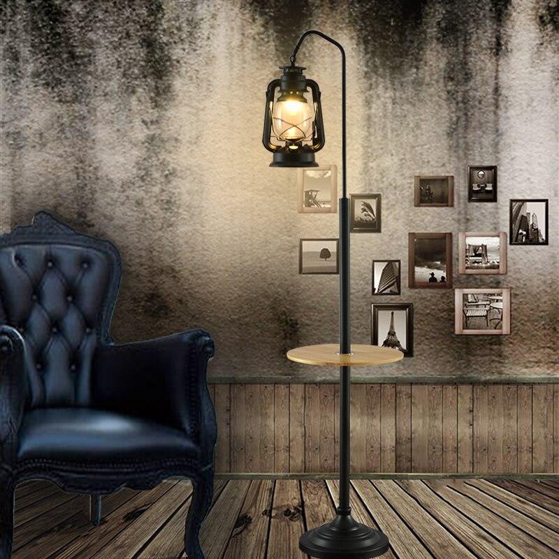 Debout stand Sol Luminaires Retro Lis Salon Chambre Bureau Lampes Noir-Doré