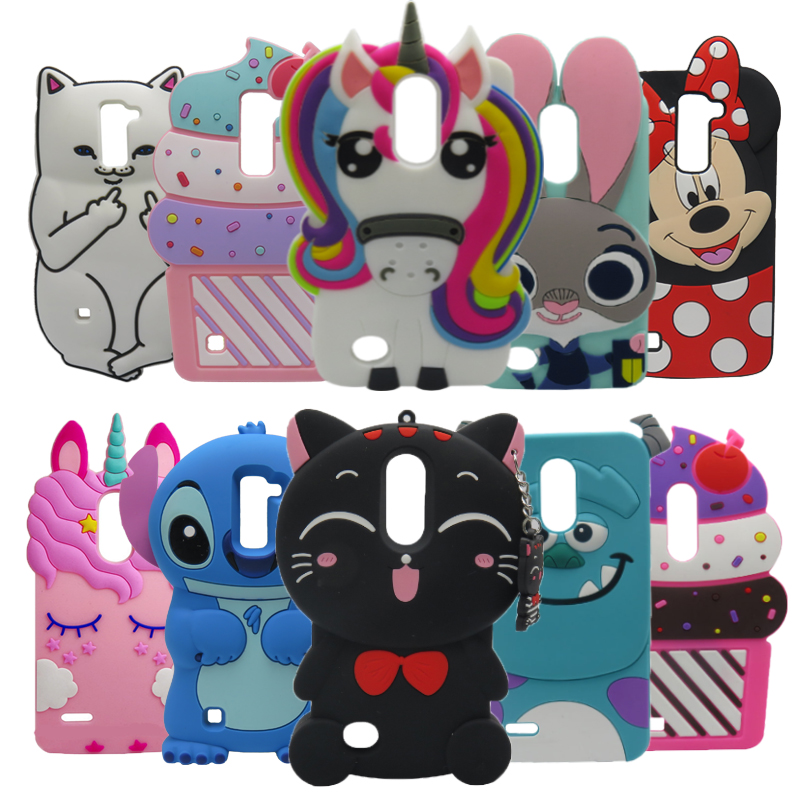 Phone Case For LG K7 Case X210 X210DS MS330 3D Cute Minnie Stitch Sulley cupcake Silicone Back Cover For LG K7 K 7 Q7 case coque