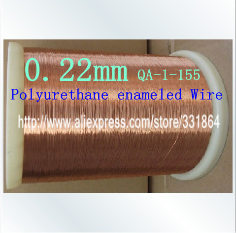 0 22mm 100m pcs QA 1 155 Polyurethane enameled Wire Copper Wire enameled Repair
