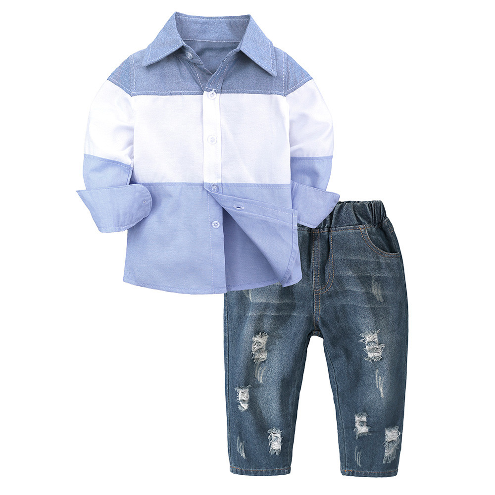 2pcs Baby Boys Summer Underwaist Tops Plaids Shorts Set Kids Clothes Outfits