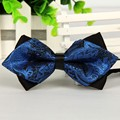 pointed 12cm*6cm men tie bow ties 2014 Blue jacquard silk bowties luxury gravatas borboleta bulk lot Wholesale