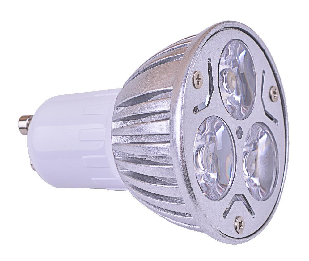 DC12V light bulbs gu10 led lighting 3pcs led spotlight lamp free shipping led lights gu10 3x1W 300 lm gu10 led light bulbs