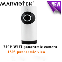 180 Degree HD 720P Fisheye Mini WiFi Panoramic IP Camera Wireless WiFi Baby Monitor Night Vison