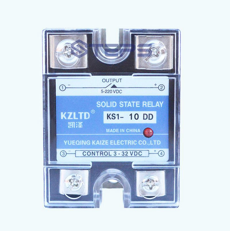 цены Solid-state non-contact relay 24V DC control DC 10A with lamp DC solid state relays KS1-10DD