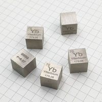 Rare Earth Ytterbium metal 99.99% Element Yb 10x10x10mm Density Cube pure in Periodic Element