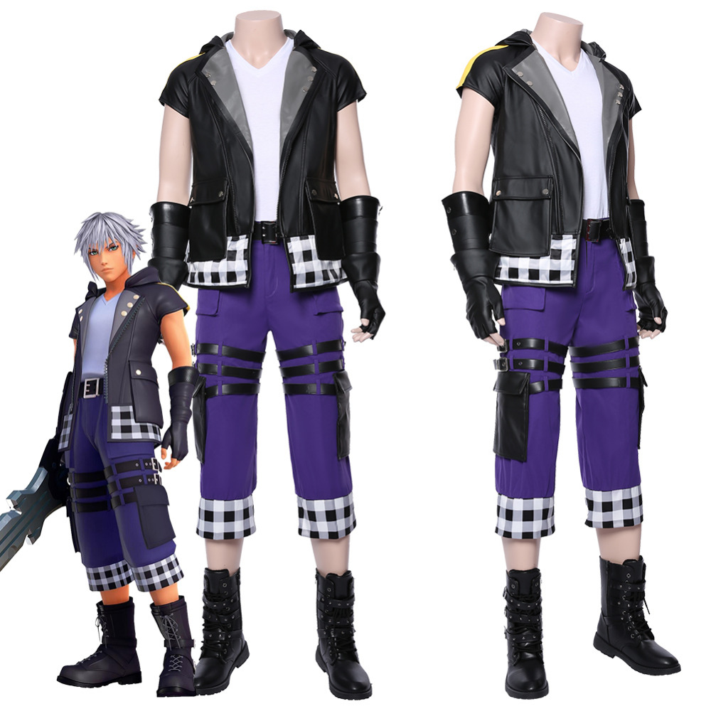 Kingdom Hearts III Riku Cosplay Costume Outfit Adult Men Women Halloween Carnival Costumes Custom Made