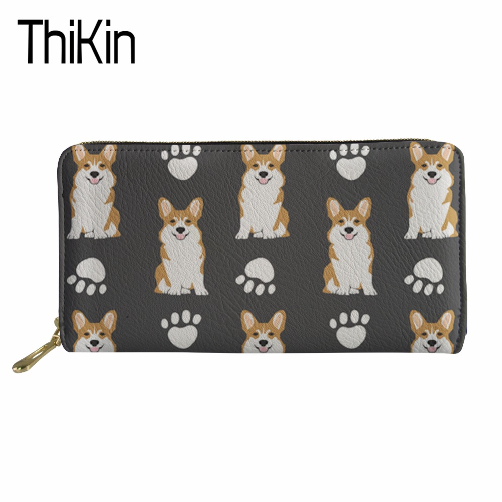 Luggage & Bags Thikin Large Capacity Travel Passport Cover Women Cute Corgi Printing Clutch Credit Card Holder Passport Wallet Purse Money Bag Coin Purses & Holders