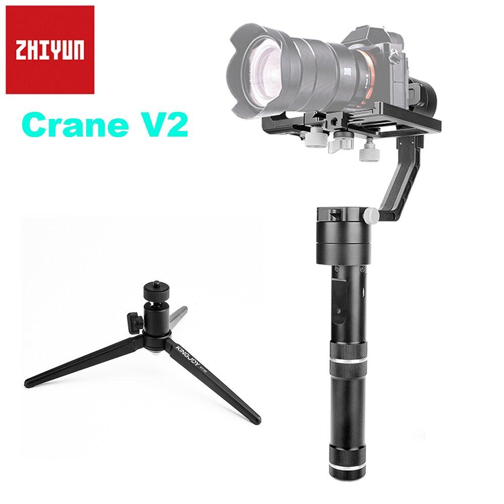 Zhiyun Grue V2 3-Axis Brushless Cardan Stabilisateur De Poche pour Sony Canon Nikon Mirrorless Caméra A7s GH4 Soutien 350g-1800g