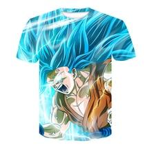 Red spy 2018 high quality Men's T-shi fashion short-sleeved Tops 3D lightning Dragon Ball Z cartoon Unisex casual T-shirt