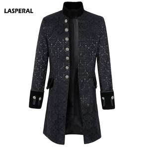 4686cbcf1 LASPERAL Gothic Frock Steampunk Coat Jacket Black Mens 2018