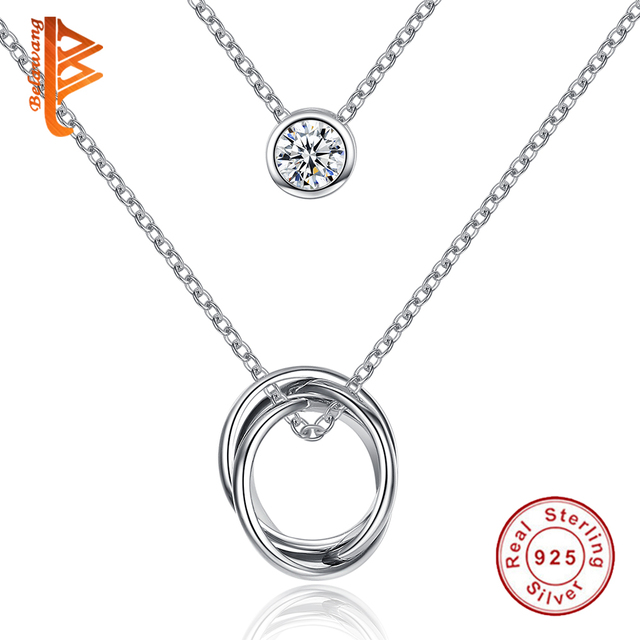 2016 Vintage Fashion Chunky Choker Collar Necklace 925 Sterling Silver Crystal Pendants Statement Necklaces Women Jewelry