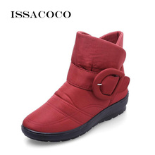 ISSACOCO 2018 New Womens Shoes Snow Boots Women Girl Female Warmer Plush Antiskid Waterproof