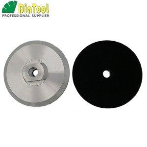 Image 1 - DIATOOL 2 pcs Diâmetro 100mm M14 Backer Para Polimento Pad De Alumínio Com Base, 4 polegadas Almofada de Volta