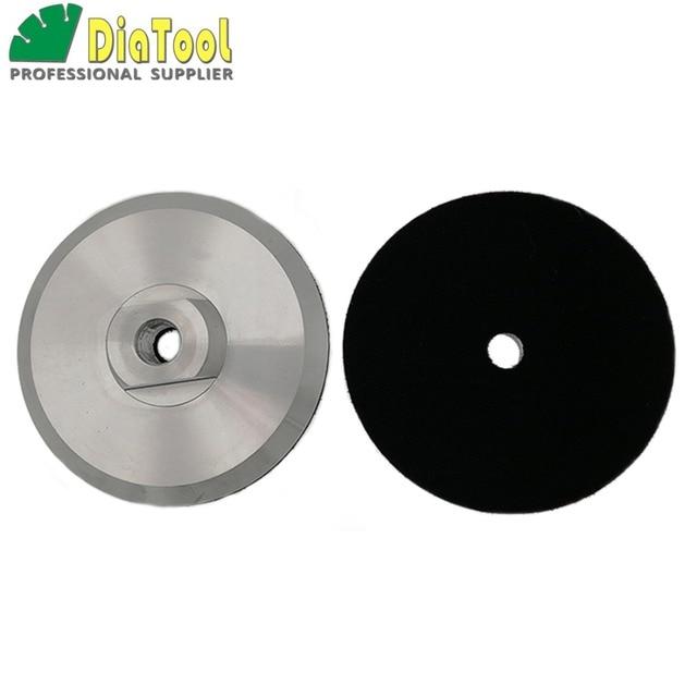 DIATOOL 2 pcs Diâmetro 100mm M14 Backer Para Polimento Pad De Alumínio Com Base, 4 polegadas Almofada de Volta