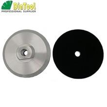DIATOOL 2 stks Diameter 100mm M14 Aluminium Gebaseerd Backer Voor Polijsten Pad, 4 inch Back Pad