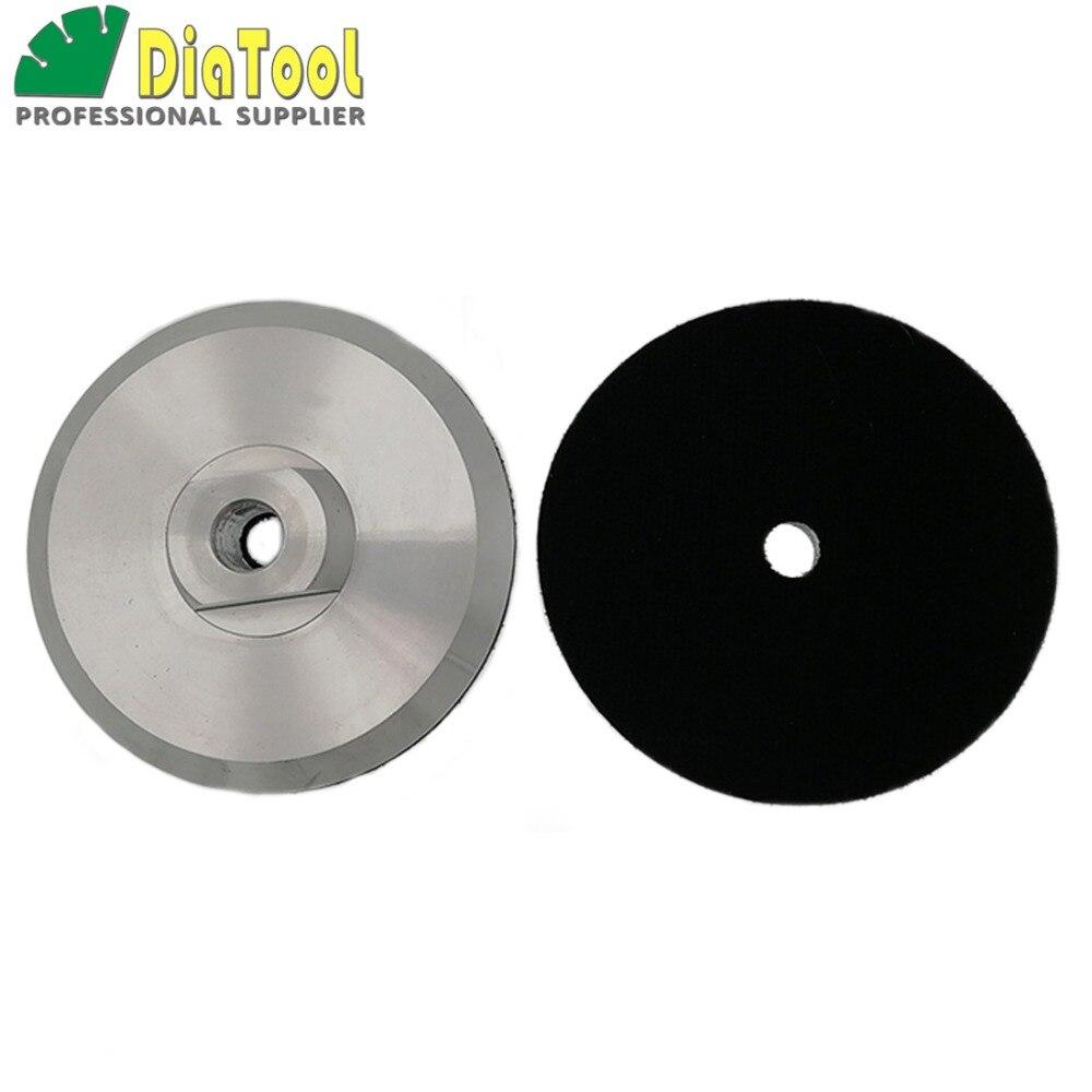 DIATOOL 2pcs Diameter 100mm M14 Aluminium Based Backer For Polishing Pad, 4inch Back Pad Holder