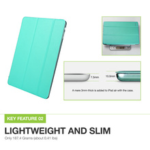 ESR Yippee Color PU Transparent Back Ultra Slim Light Weight Trifold Smart Cover Case for iPad Air/iPad 5