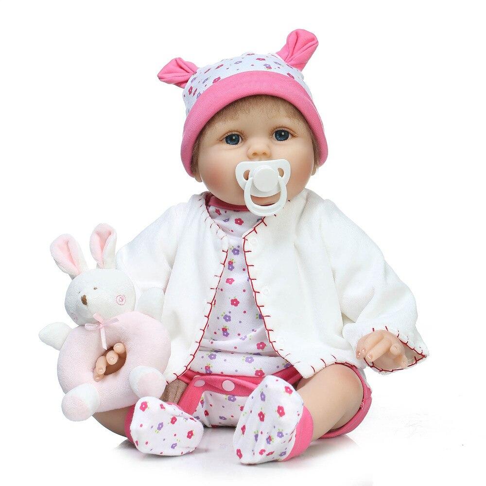 55cm NPKCOLLECTION Soft Body Silicone Reborn Baby Doll Toys Kawaii Newborn Baby-Reborn Doll Birthday Present Girl Brinquedos цена