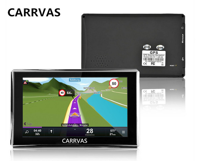 CARRVAS Inch Car GPS Navigation Truck Vehicle GPS Navigator Sat - Gps with europe and us maps