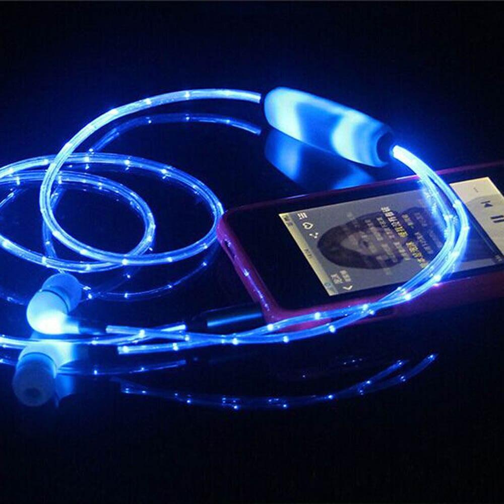 LED Luminous In ear Earphone Glow Stereo Fone de ouvido Headset For iPhone BINMER Futural Digital Drop Shipping F25