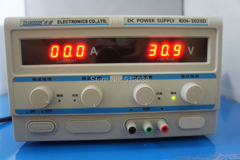 ZhaoXin RXN 3020D 30V 20A Linear Adjustable DC power supply