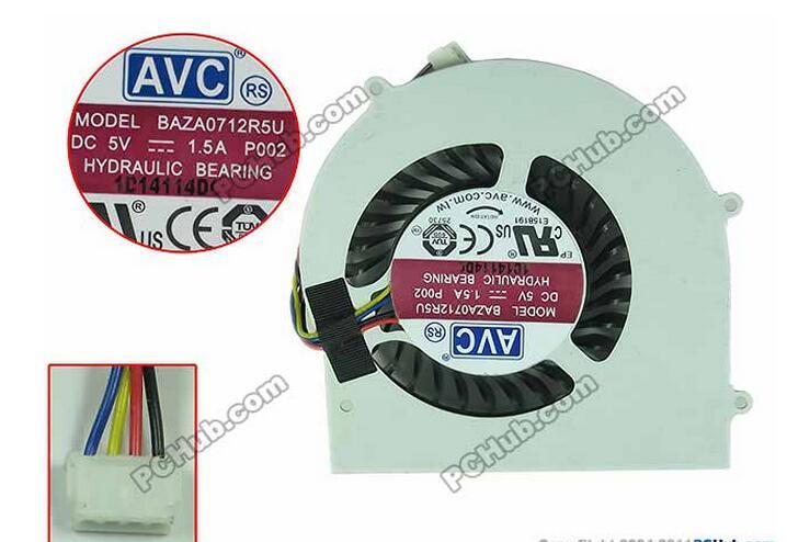AVC BAZA0712R5U DC5V 1.5A   Laptop Fan Bare Fan avc link avc 3029g