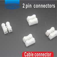 500Pcs 2 pin push quick cable connector terminal Wiring Terminal 10A 250V