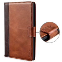 Case For Kindle Paperwhite Genuine Leather Case Card Slots Protective Flip Folio Cover Case Magnetic Closure