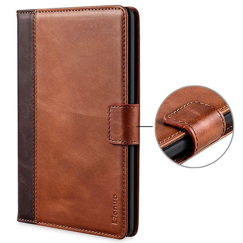 Benuo Genuine Leather Case For Kindle Paperwhite Case Cover [Card Slots]Protective Flip Folio Case For Amazon Kindle Paperwhite high quality pu leather cover case folio protective shell cover case for amazon kindle 4 kindle 5 gift