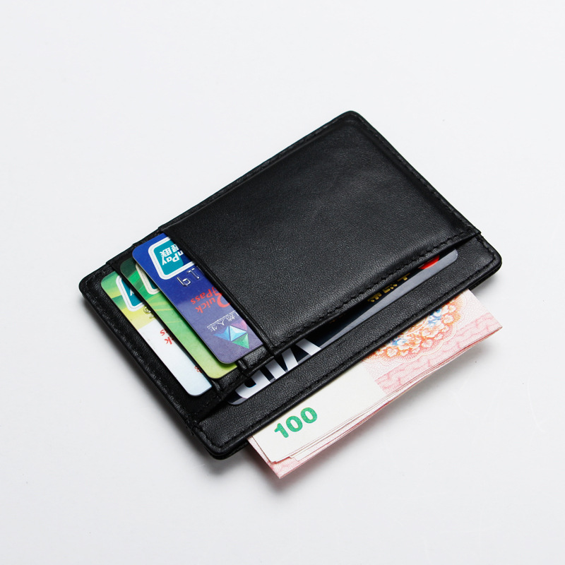 Real Leather Rfid Blocking Wallet for Credit Cards Rfid Card Protection Minimalist Porte Carte Fashion Men Namecard Holder genuine leather men wallet cash clip small male purse nfc blocking card holder anti scan credit card rfid protection porte carte