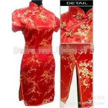 Cheongsam Fashion casual dress vestidos plus size women summer sexy flower print tropical cheap clothes china 2017 5xl 6xl
