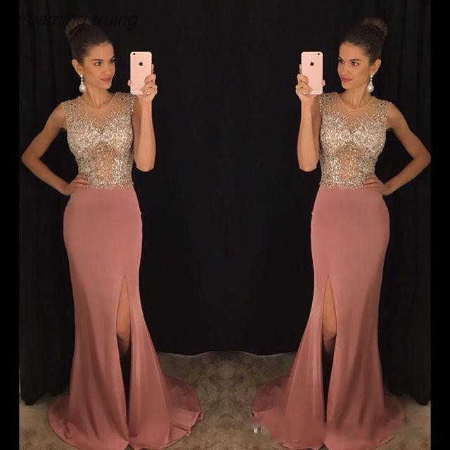 DZW131 2019 Off Shoulder   Evening     Dress   Sparkling Heavy Beading Crystal Ladies Formal Gown Abendkleider Prom   Dress